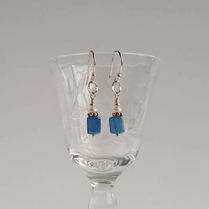 Simple Drop Earring ~ Blue Kyanite