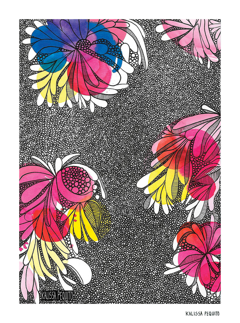 Print COLORFUL FLOWERS (2018)