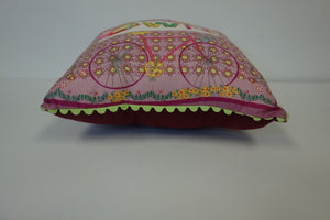 "9"" Square Pillow - Pink, Ride Your Own"