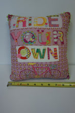 "Load image into Gallery viewer, 9"" Square Pillow - Pink, Ride Your Own"
