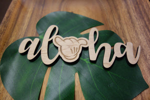 "Aloha Shaka - 7"" Wood Cut Out Sign"