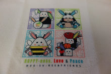 "Load image into Gallery viewer, 12"" Square Microfiber Towel - Easter Bunny MooSuBee"