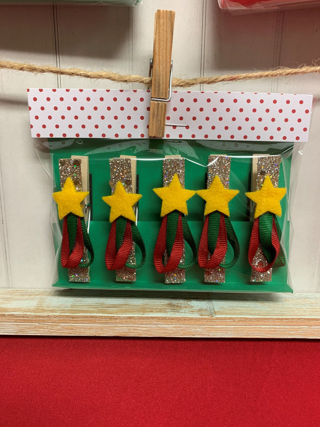 Christmas Tree Clothespin Magnets