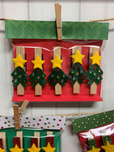 Load image into Gallery viewer, Christmas Tree Clothespin Magnets