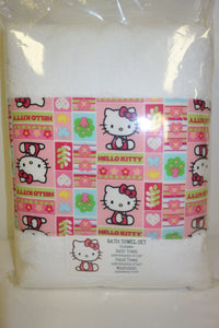 3 Piece Bath Towel Set - Hello Kitty