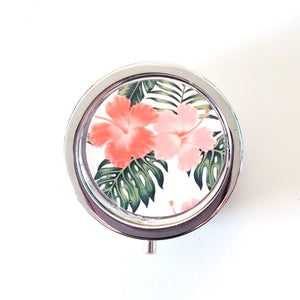 Trinket Sized Pill Box - Tropical Hibiscus