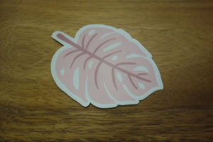 "Monstera Leaf 3"" Vinyl Decal Sticker - Pink"