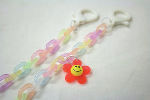 Mask Chain - Colorful Korean Acrylic C Links with Daisy