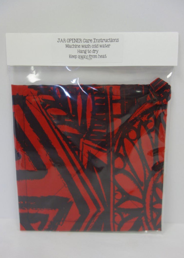 Jar Grip Openers - Red Tribal Print