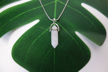 Load image into Gallery viewer, Hexagonal Chakra Pendant with Chain - Rose Quartz