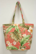 Load image into Gallery viewer, Market Tote Bag - Salmon, Hibiscus + Plumeria