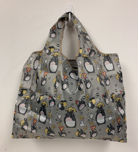 Reusable + Foldable Tote Bag - Gray, Totoro
