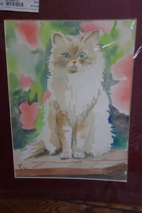 Watercolor Painting - Kitty