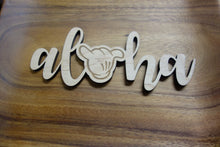 "Load image into Gallery viewer, Aloha Shaka - 7"" Wood Cut Out Sign"