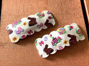 "2"" Snap Clips - Chocolate Bunnies, Set of 2"