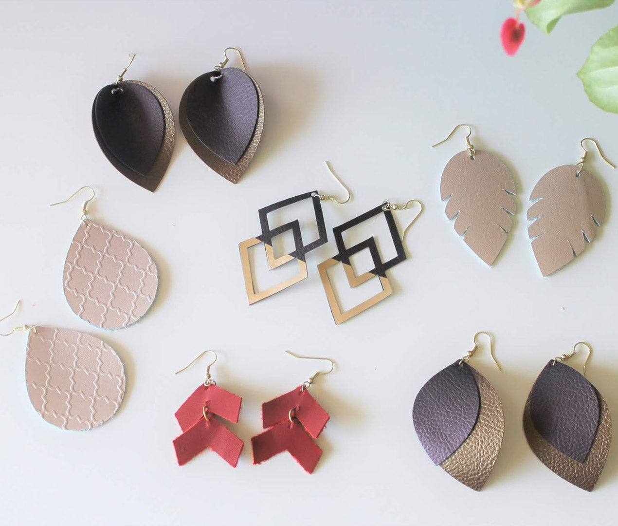 Contemporary Fashion - DIY Leather Earrings