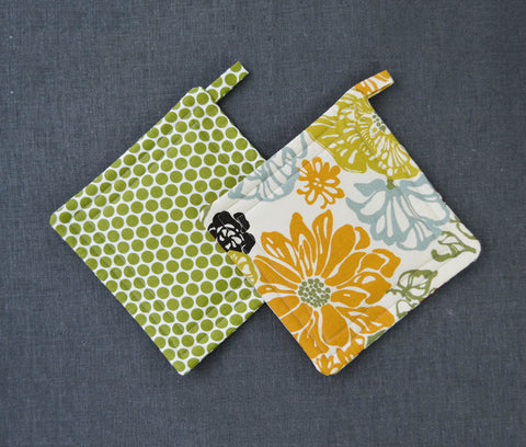 Quilted Kitchen Pot Holders