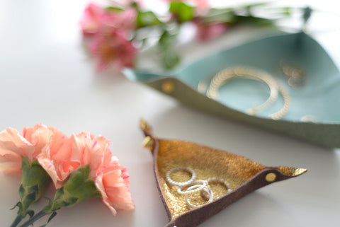 DIY Stamped Leather Trinket Dishes