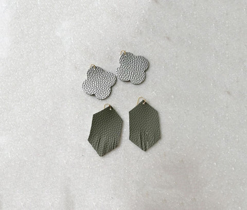 Leather Earrings without a Cricut or Silhouette