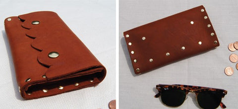 Leather Studded Wallet