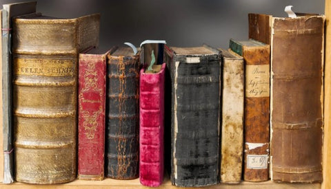 old leather bookbinding