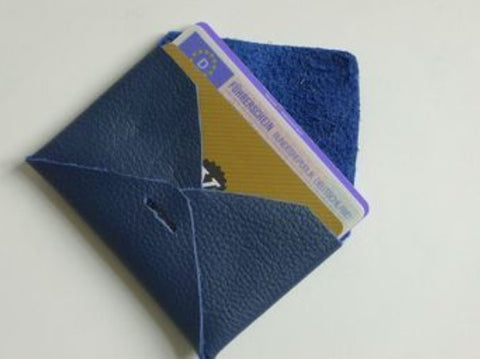 DIY No Sew Leather Card Case