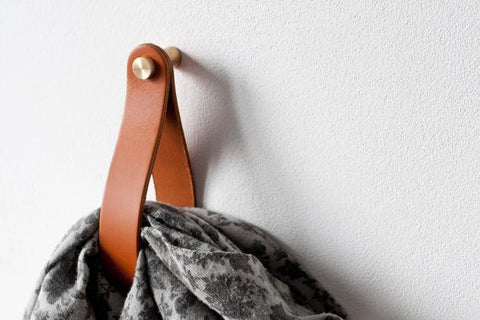 DIY Leather Wall-Hanging Straps