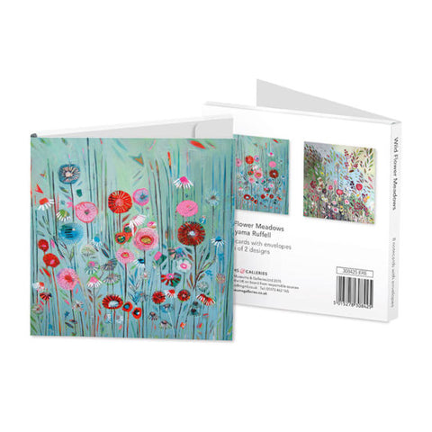 Square Notecard Wallet - Wild Flower Meadows
