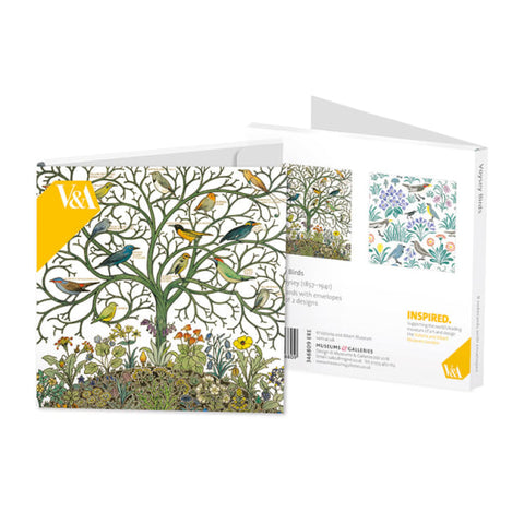 Square Notecard Wallet - Voysey Birds
