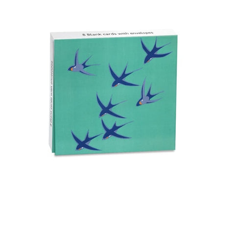 Mini Notecard Wallet - Swallows
