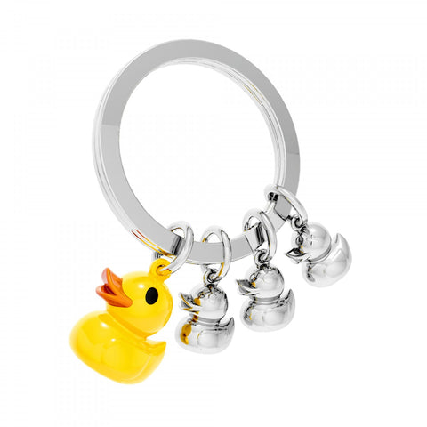 Metalmorphose Keyring Yellow Duck Family