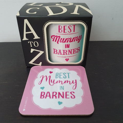 Best Mummy in Barnes Coaster