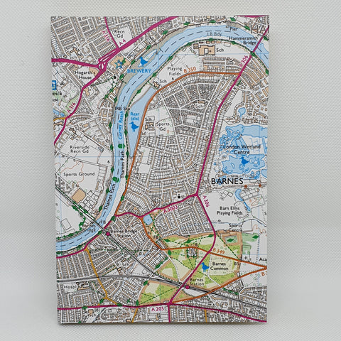 Barnes Map A5 Hardback Notebook