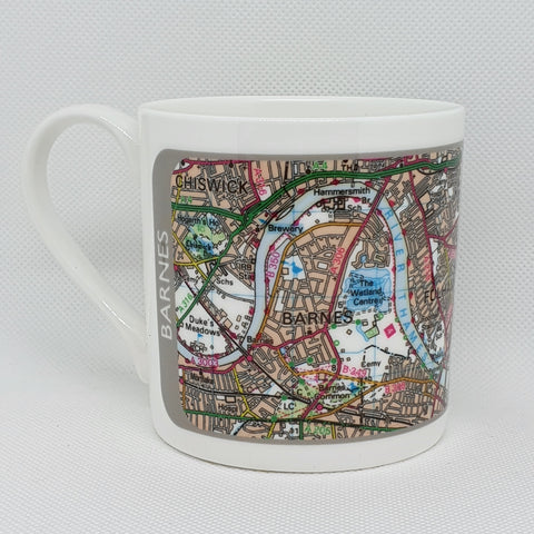Map of Barnes Bone China Mug