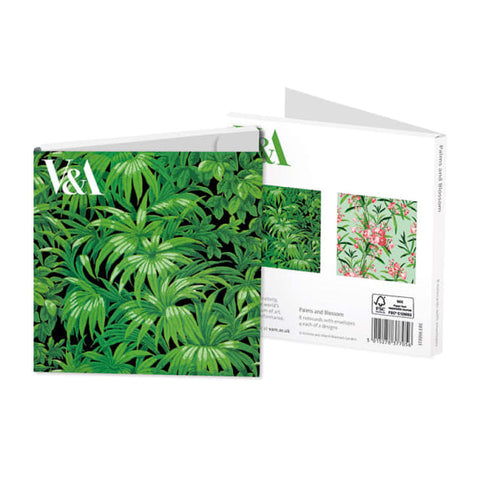 Square Note Wallet - Palms and Blossom