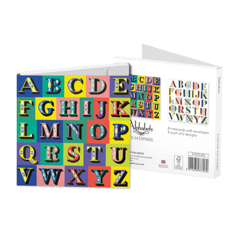 Square Notecard Wallet - Alphabets
