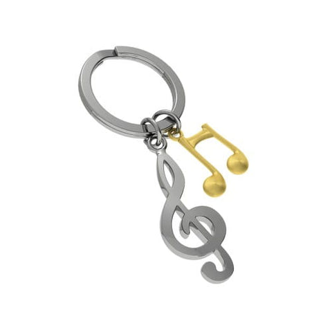 Metalmorphose Keyring Treble Clef and Music Note