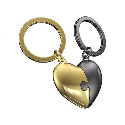 Metalmorphose Keyring Two Piece Heart Puzzle