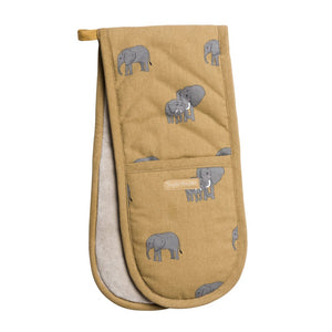Elephants Double Oven Glove