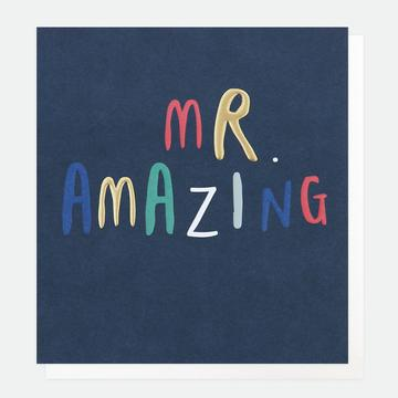 Mr Amazing Birthday Card
