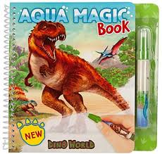 Dino World Aqua Magic Colouring Book