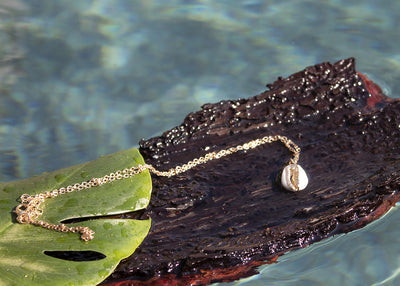 Gold Plated Cowrie Shell Pendant Neckace - Body Love Swimwear