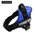 Adjustable Dog Vest Collar Reflective Pet Harness Customizable Puppy Name Label