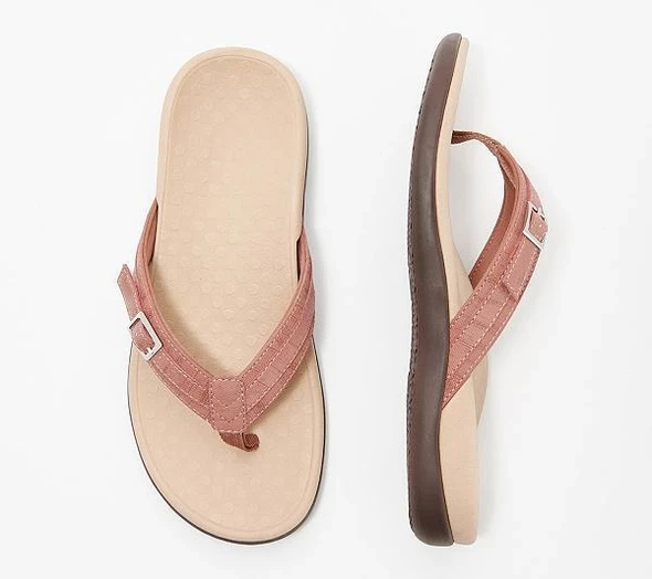 Thong Sandals With Buckle Detail