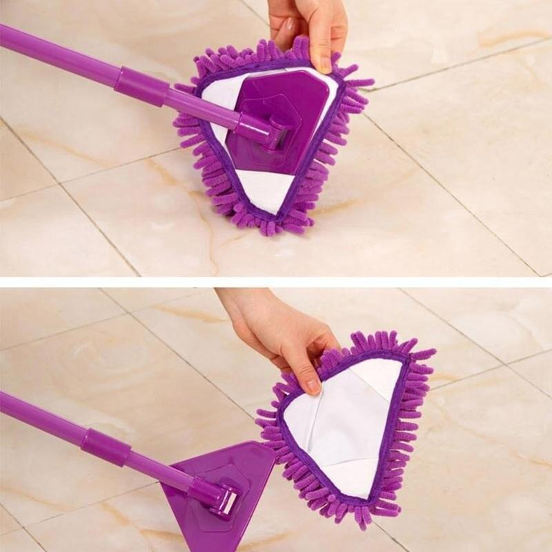 Extendable Triangle Mop,180 Degree Multifunction Microfiber