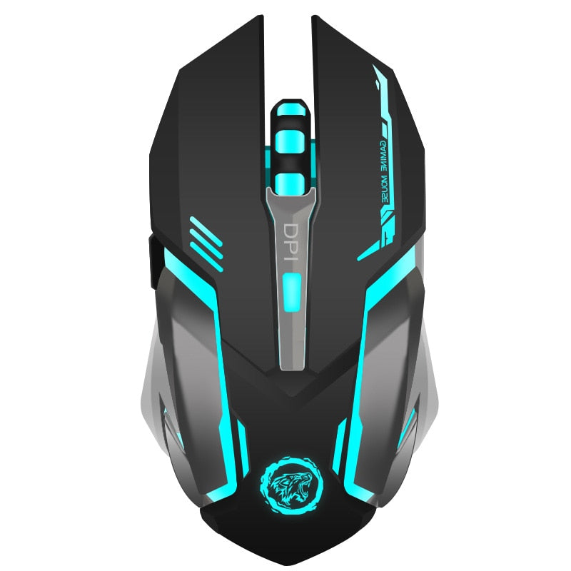Rechargeable Wireless Gaming Mouse Gamer Mice for Computer Desktop Laptop NoteBook PC