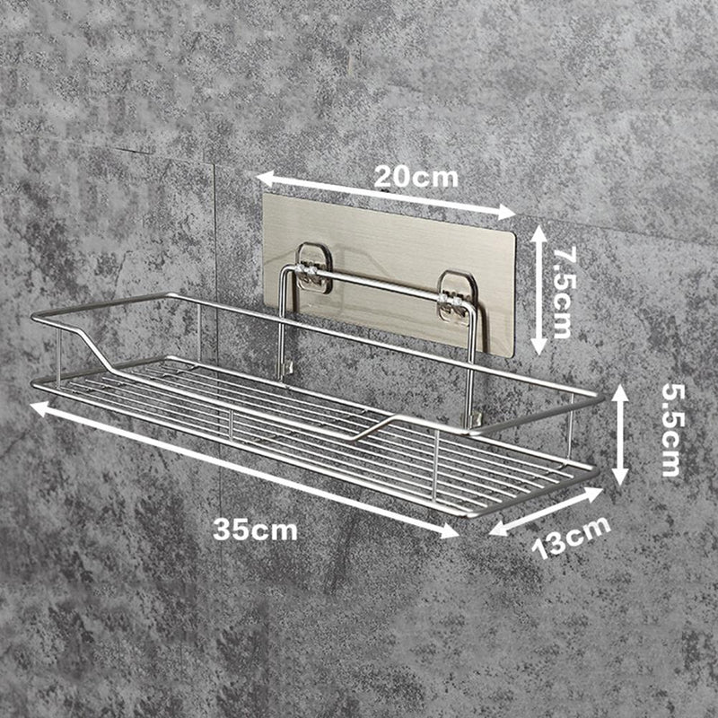 Bathroom Storage Shelf Punch-free Kitchen Bathroom Toilet Wall Hanging Storage Rack