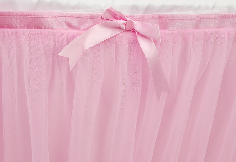 Table Skirt Wedding Party Tutu Tulle Tableware Cloth for Baby Shower Birthday
