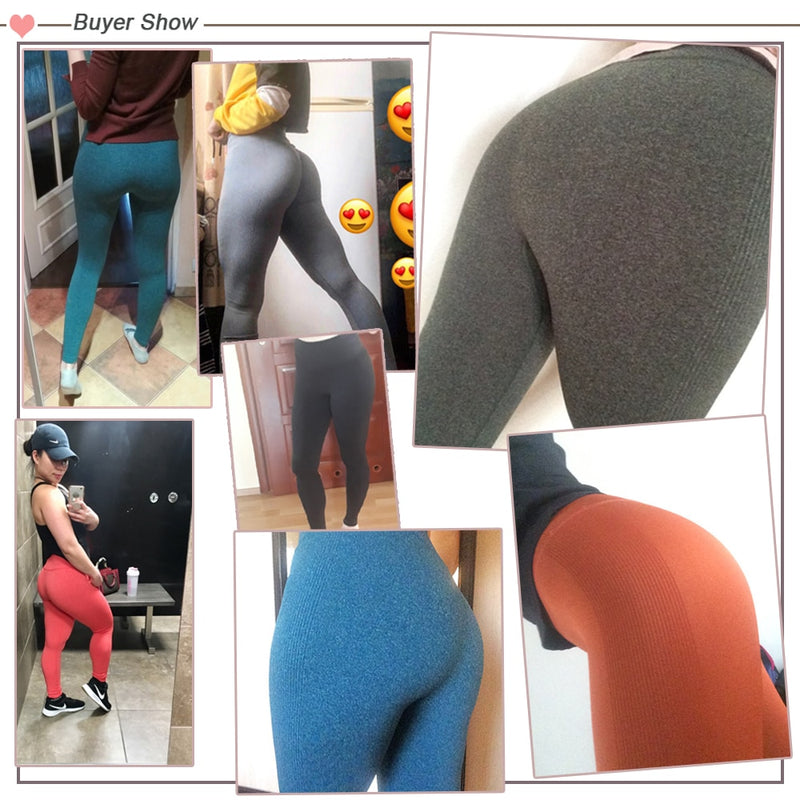 High Elastic Fitness Sport Leggings Yoga Pants Sports Pants Seamless Trousers Gym Sportswear