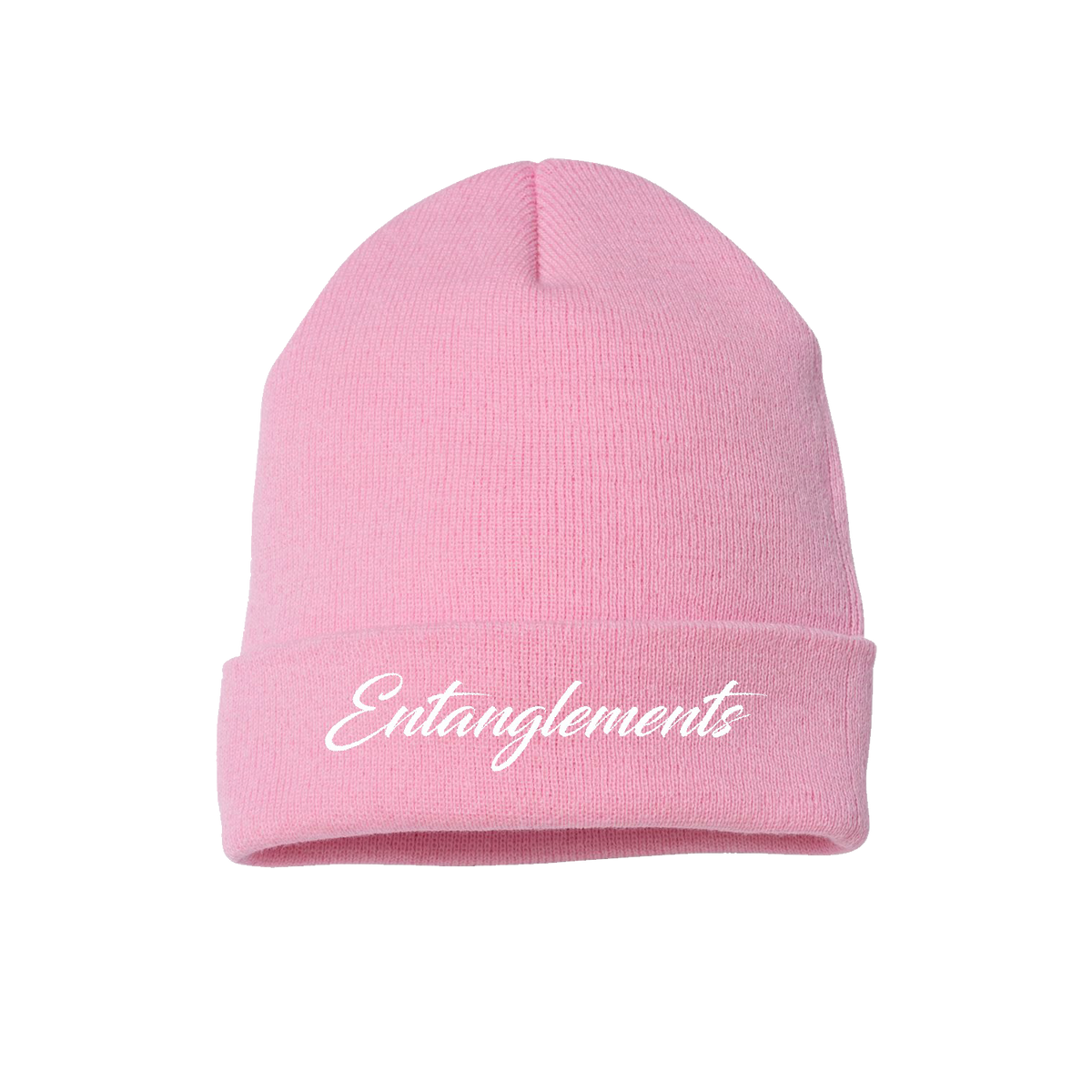 Entanglements Light Pink Beanie